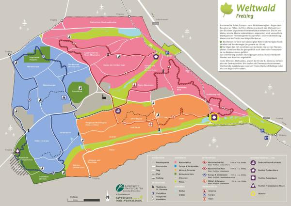 Informationstafeln Weltwald Freising