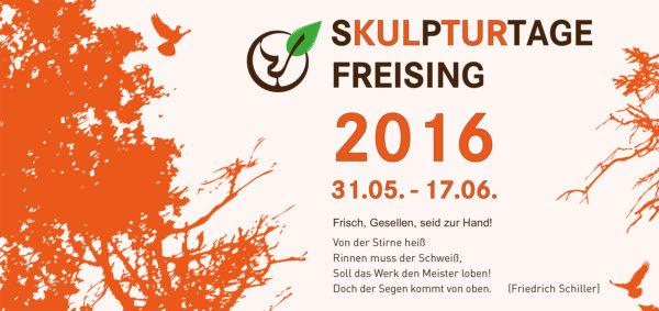 Flyer Skulpturtage Freising 2016