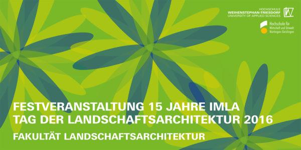 Flyer Tag der Landschaftsarchitektur 2016 Freising